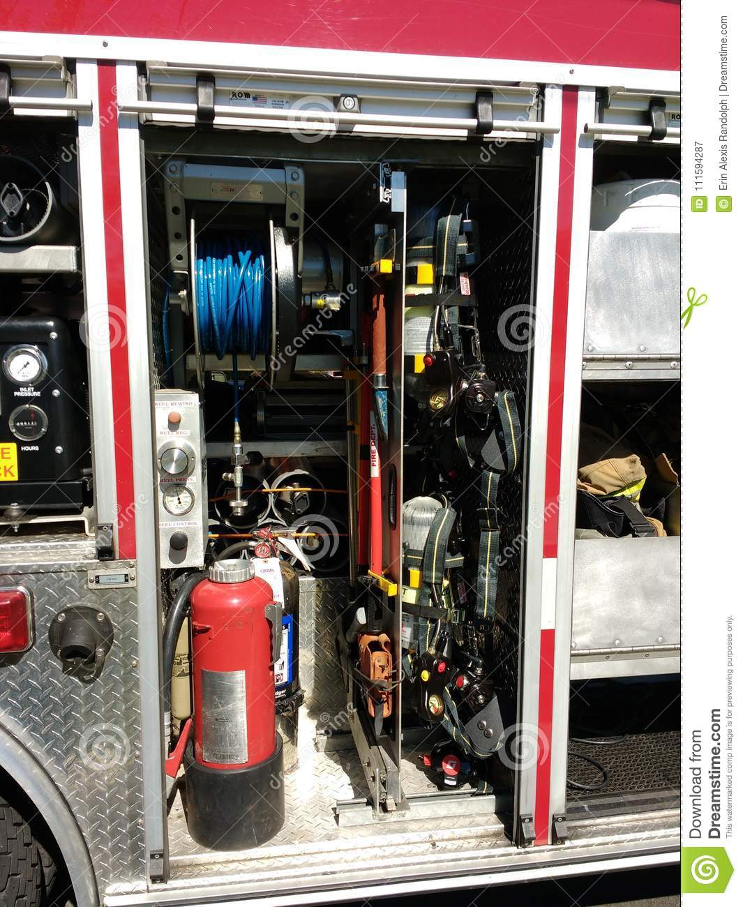Fire Truck With Firefighting Equipment, Rutherford, NJ, USA
