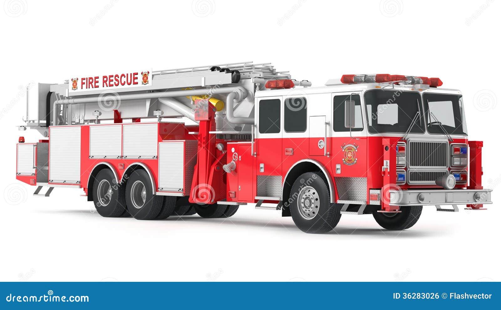 Fire Truck Isolated Stock Illustration Illustration Of