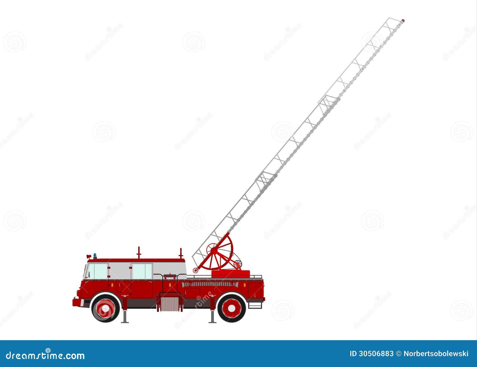 Wasser Mann Feuerwehrmann Fire Truck Cartoon GIF Ladder