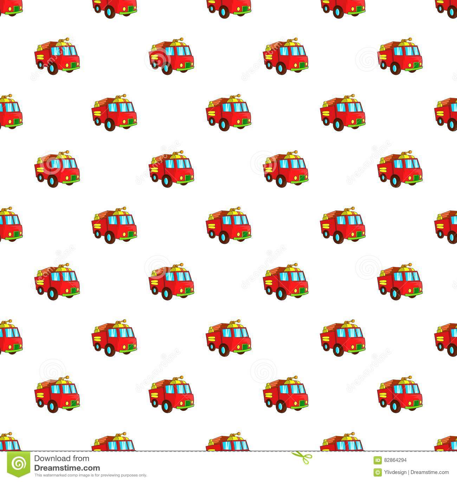 fire truck pattern cartoon style stock vector illustration of