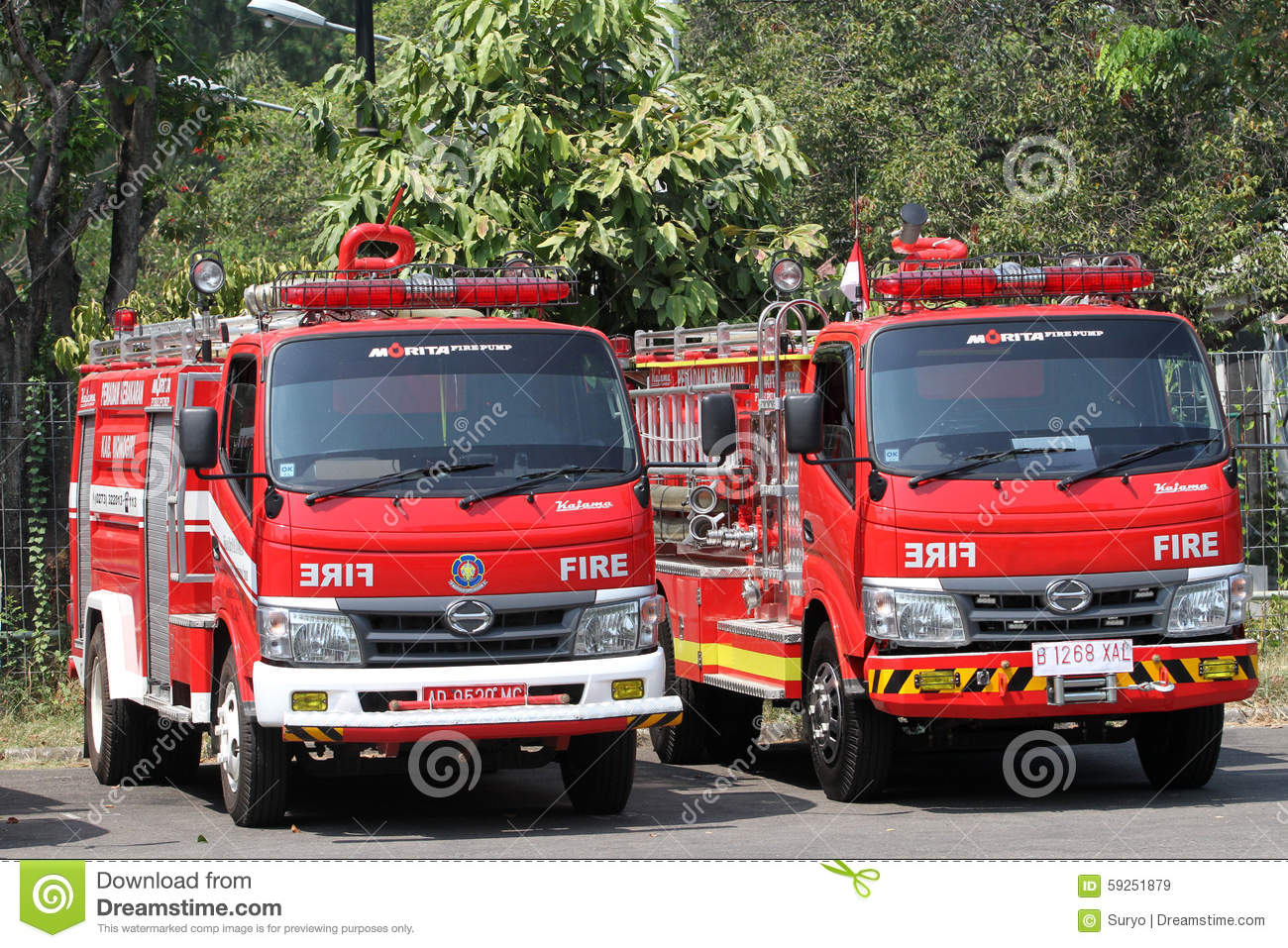 Met Parking Services >> Fire Truck Editorial Stock Image Image Of Indonesia 59251879