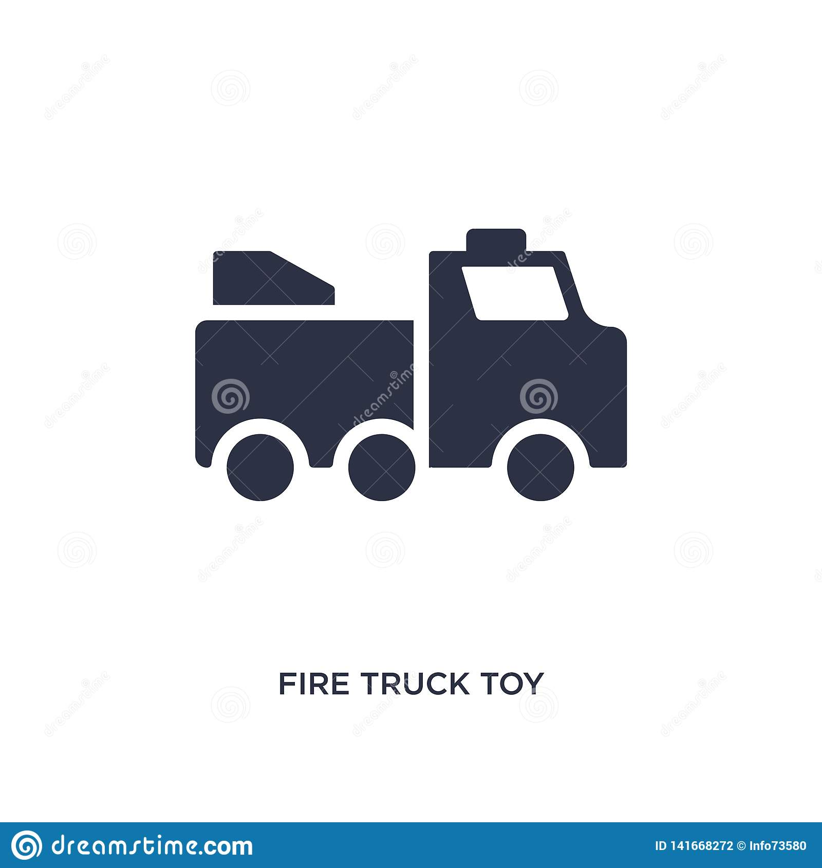 fire truck toy icon on white background. Simple element illustration from toys concept