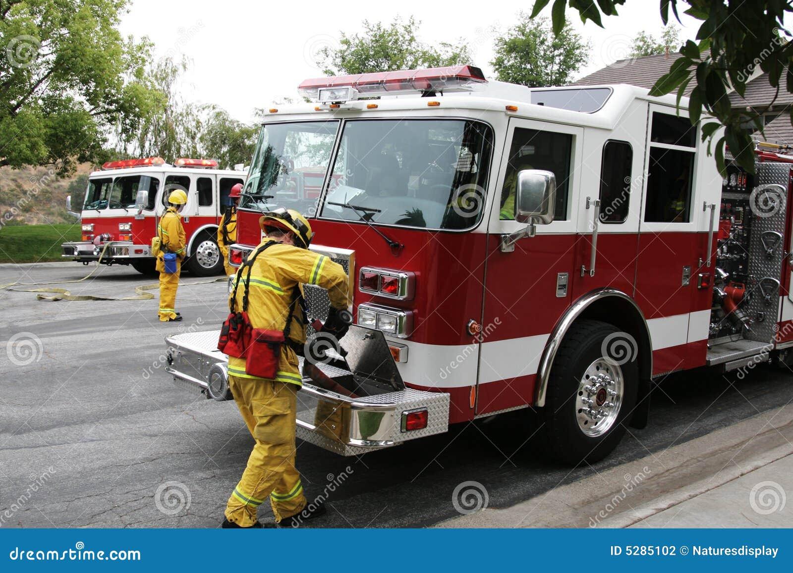 Fire Trucks & Fire Fighters