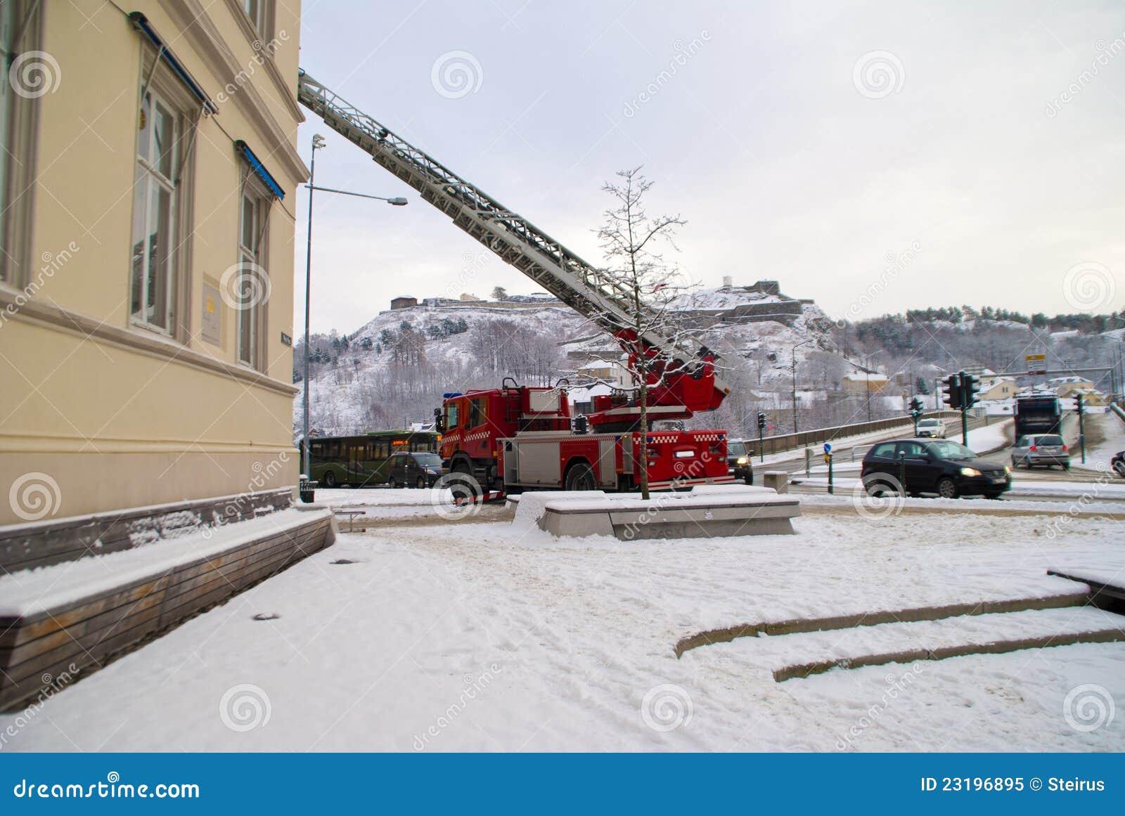 Fire trucks on a mission