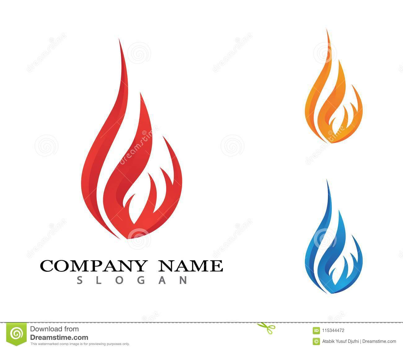fire vector icon stock vector illustration of fiery 115344472