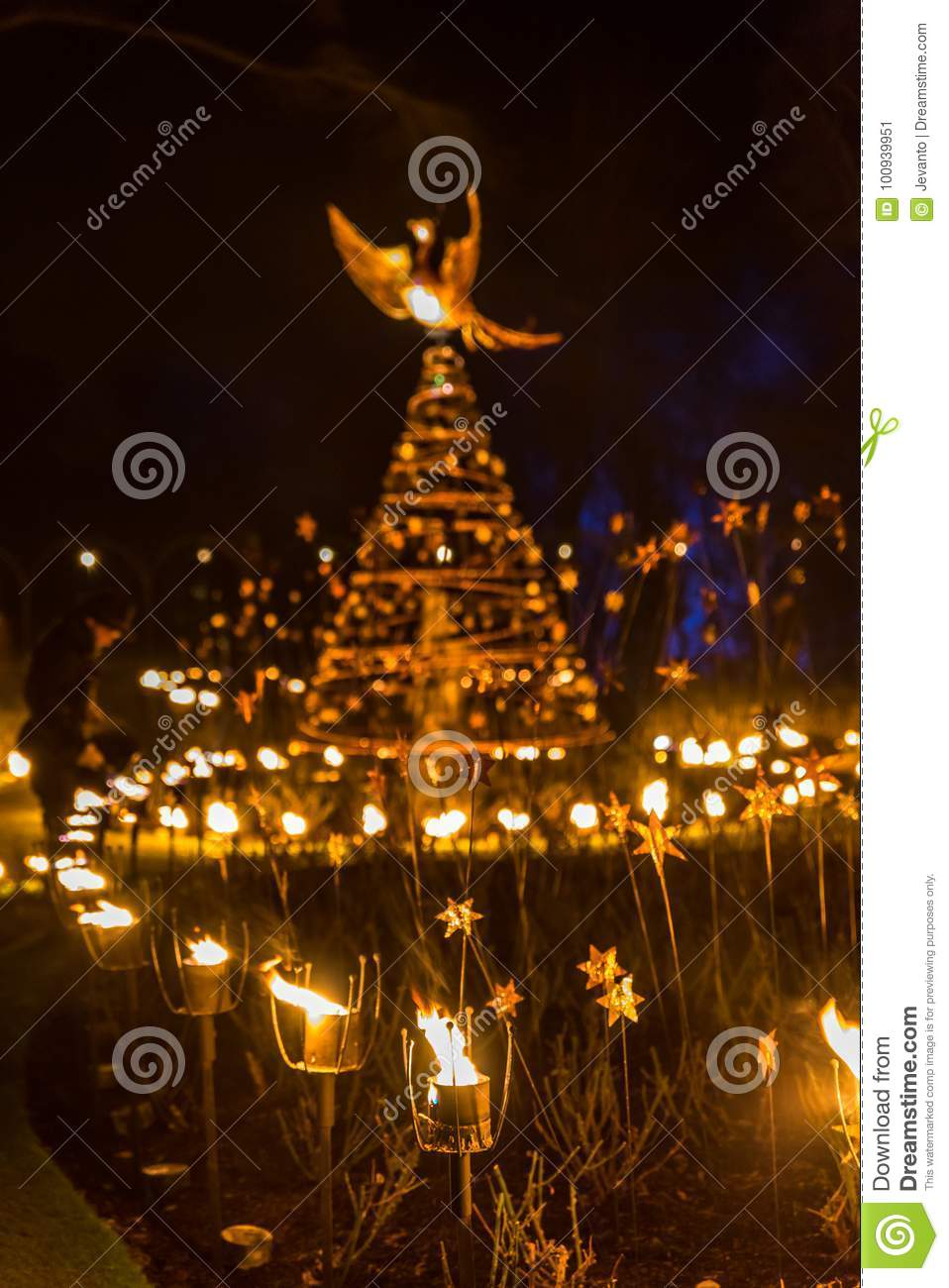fire walk and candle for christmas decoration outdoor - Peace Outdoor Christmas Decorations