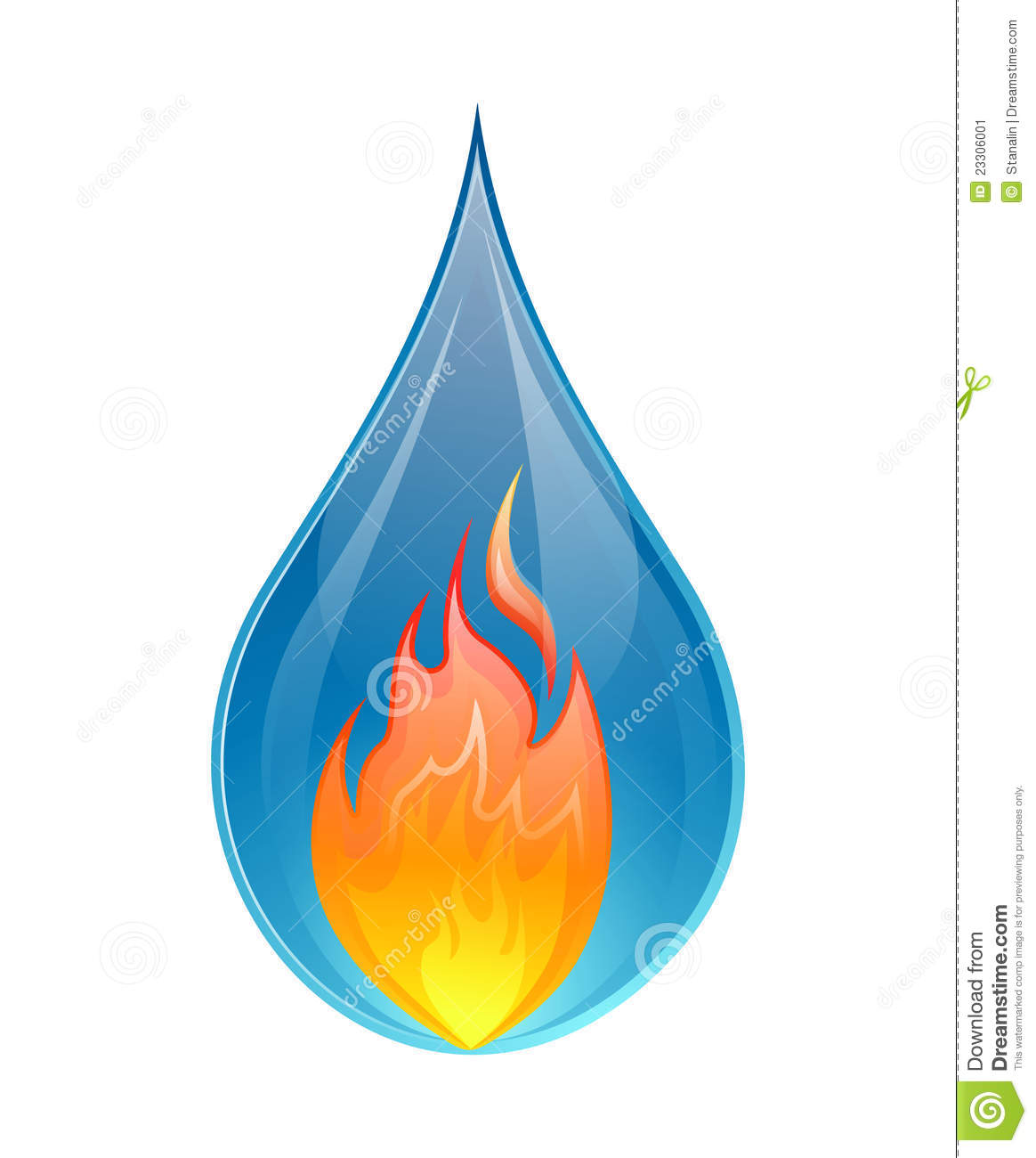 Fire and water concept - vector