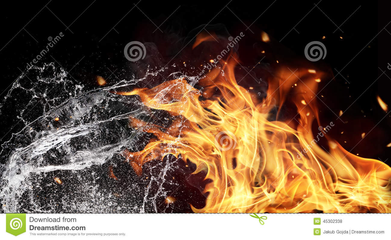 Fire and water elements on black background stock photo image of fire and water elements on black background biocorpaavc Choice Image