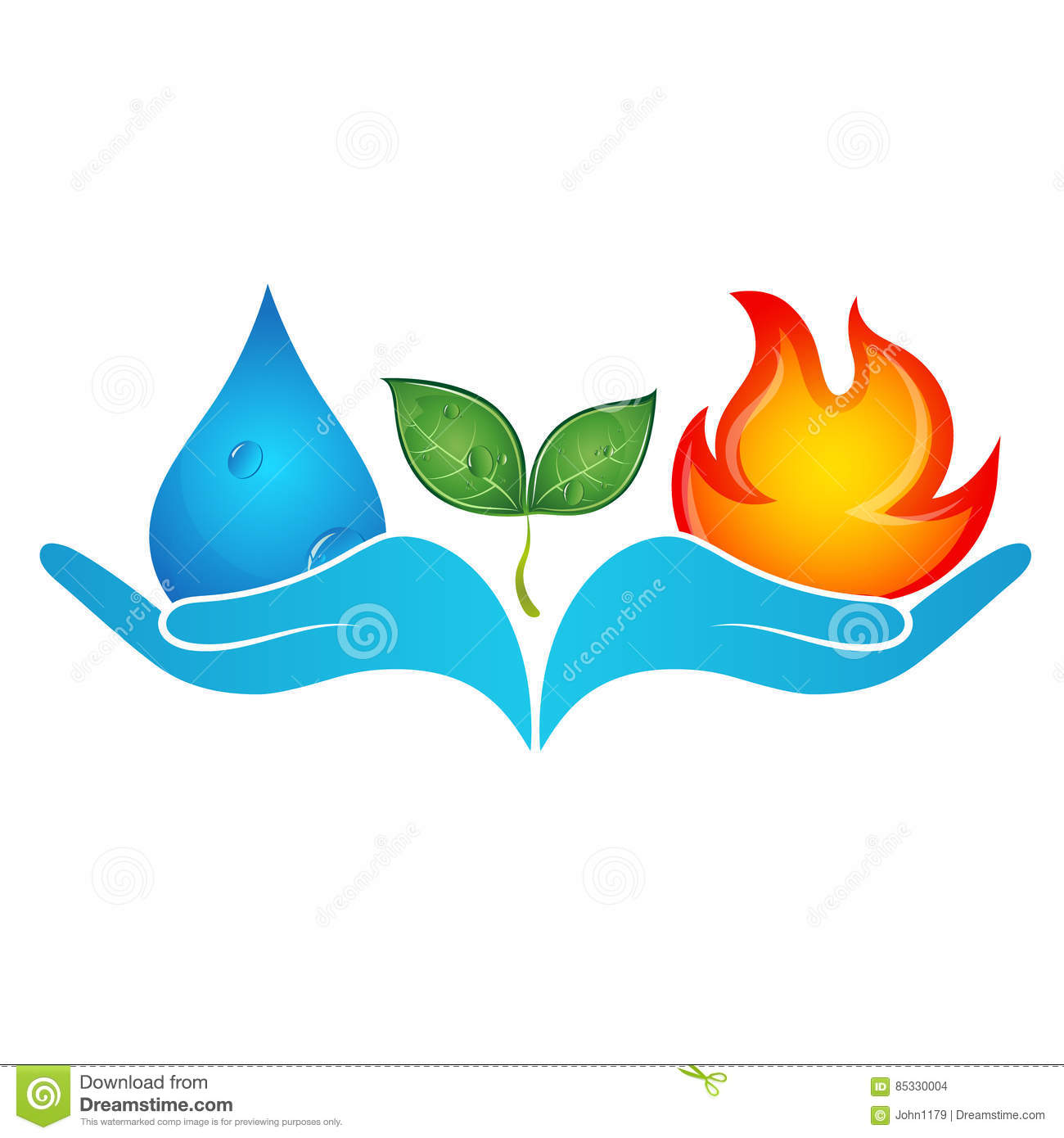 Fire and water in hands stock vector illustration of element fire and water in hands biocorpaavc Choice Image