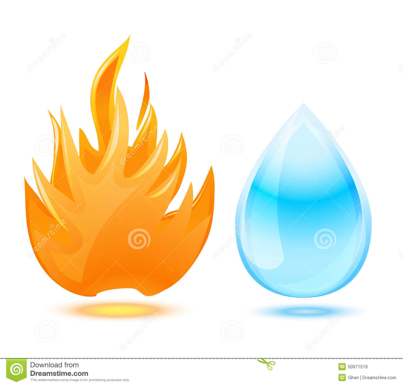 fire and water symbol stock vector image 50971519 Yin Yang Vector Rough yin yang fire vector