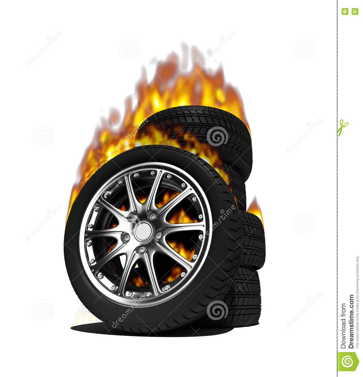 fire wheels stock photo image  trunk automobile background