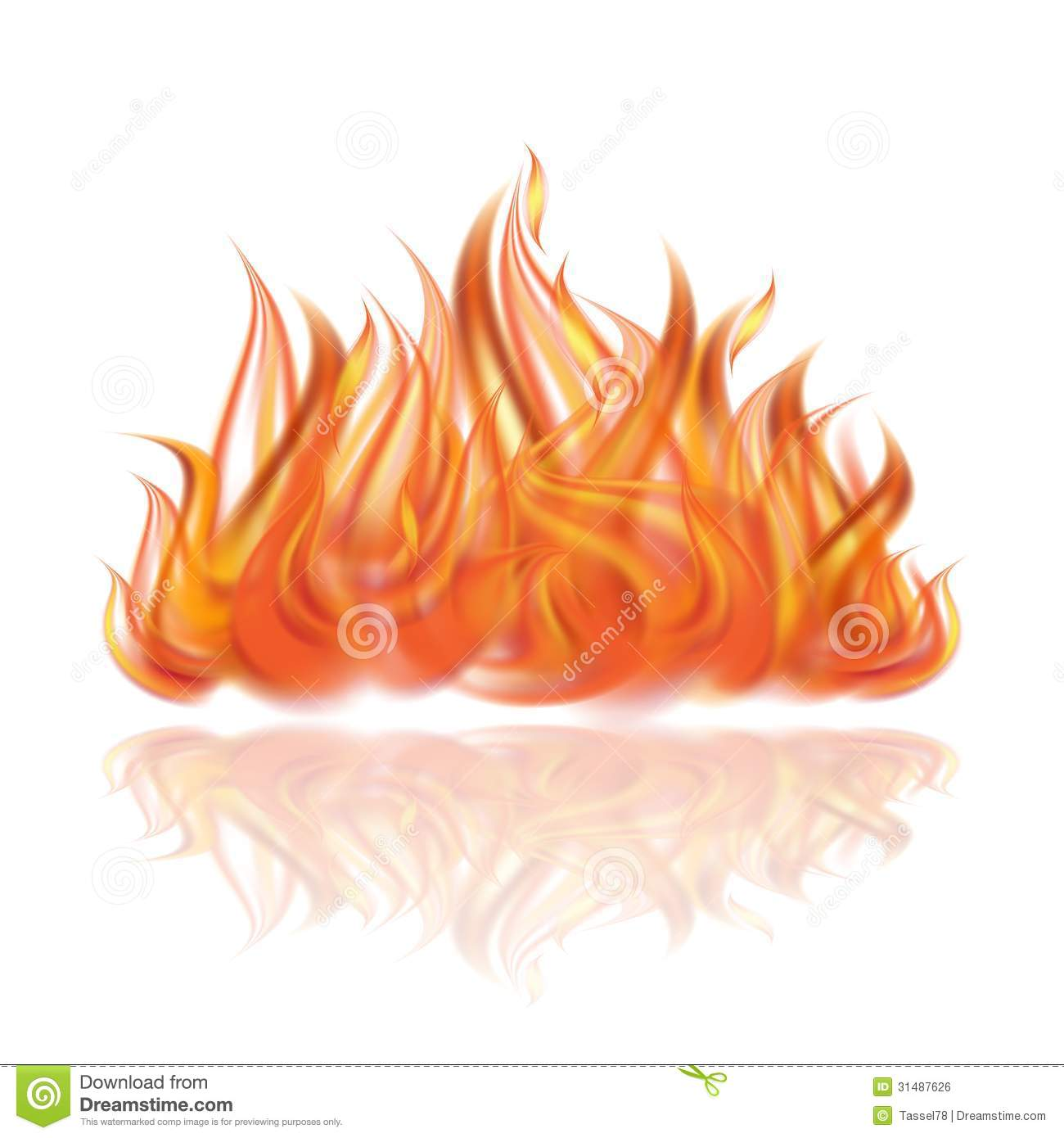 Fire On White Background Royalty Free Stock Image Image