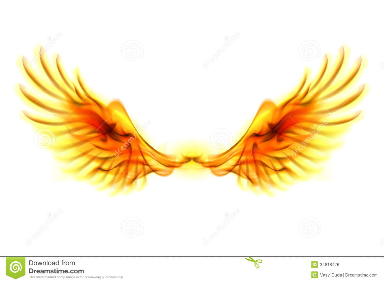 Fire wings. stock vector. Illustration of burning, fantasy ...