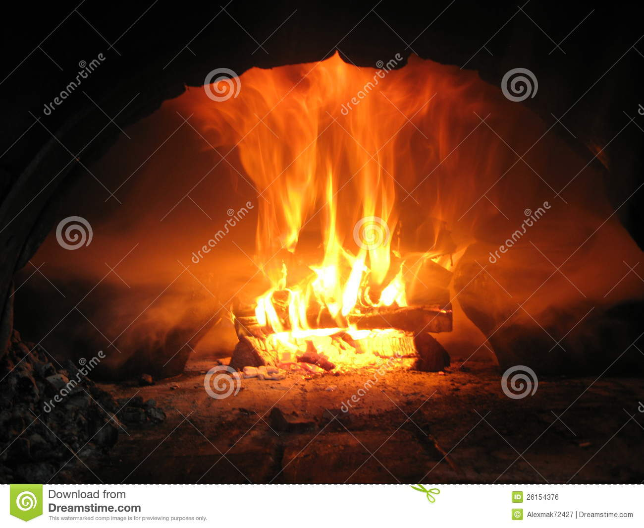 Fire Wood Burning In T...