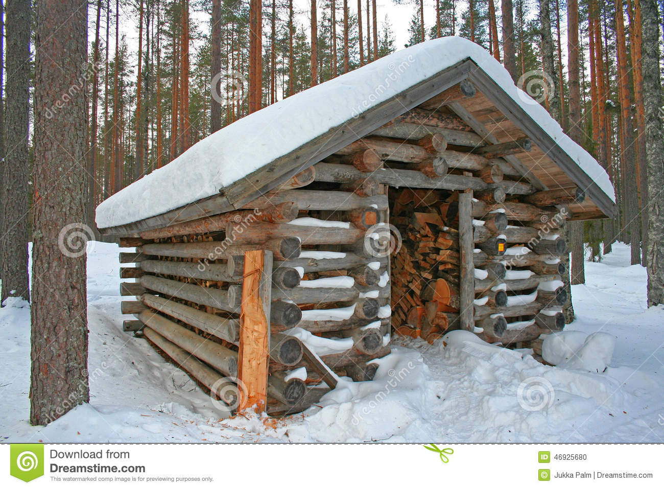 Fire Wood Shed In Finland Stock Photo Image Of Wood