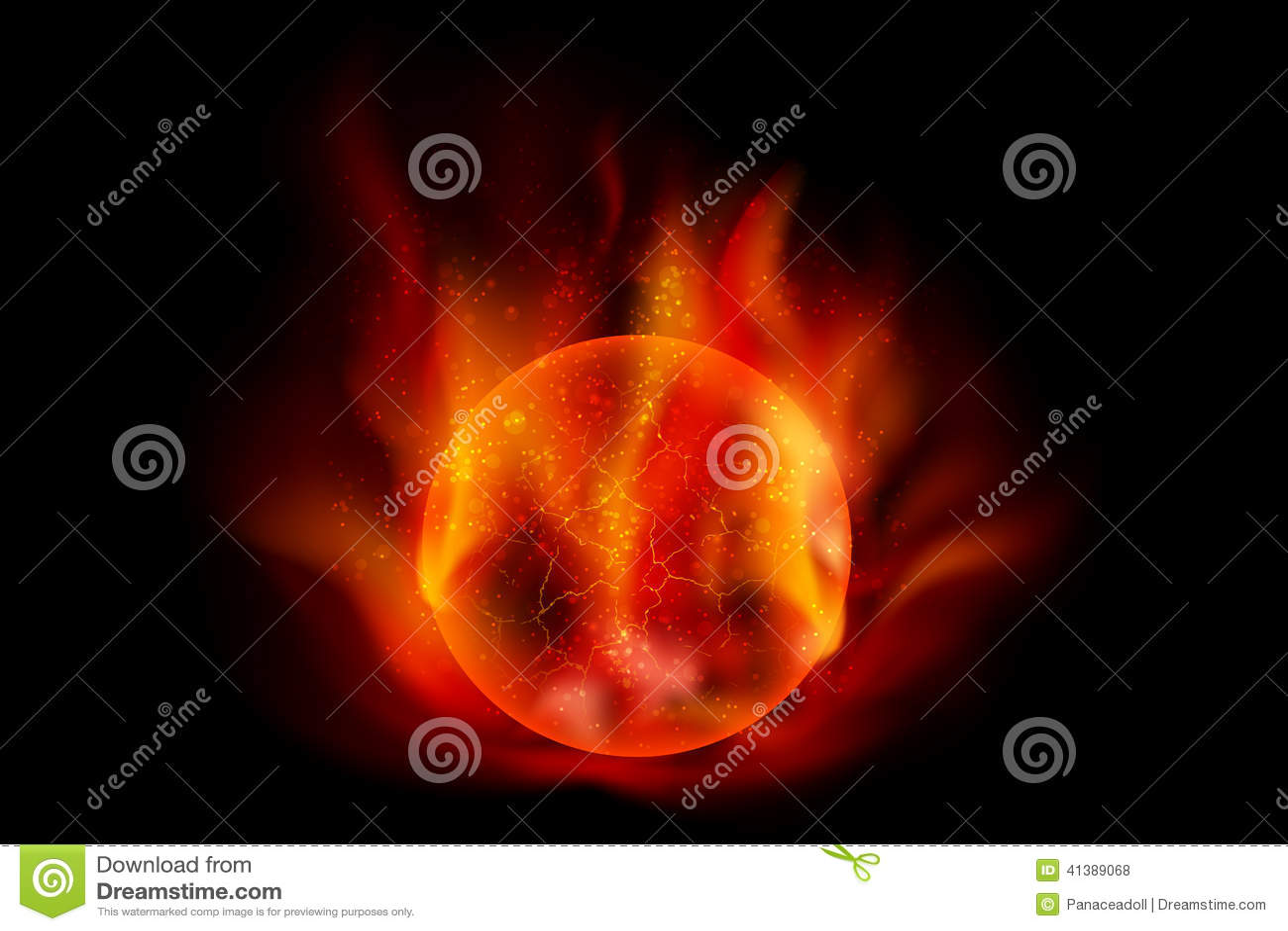 Fireball Stock Vector - Image: 41389068