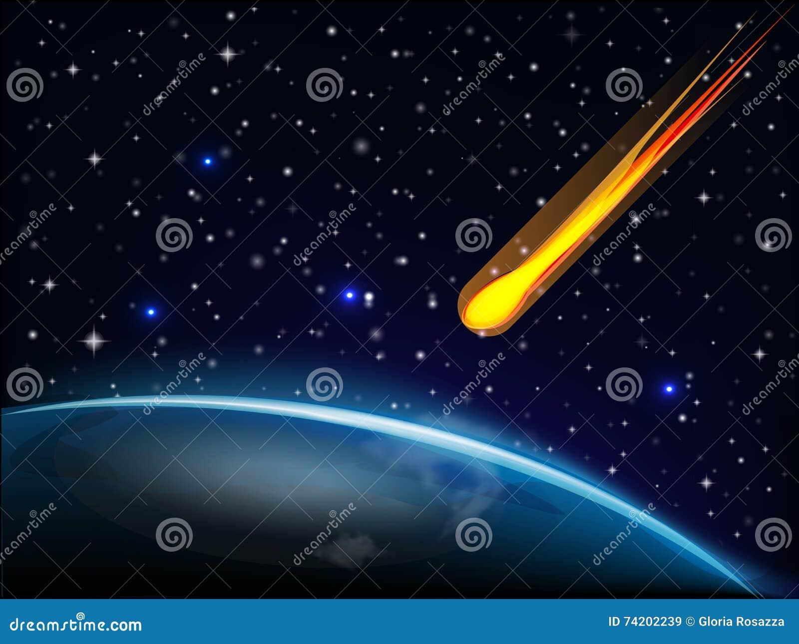 fireball falling on earth stock vector illustration of burning