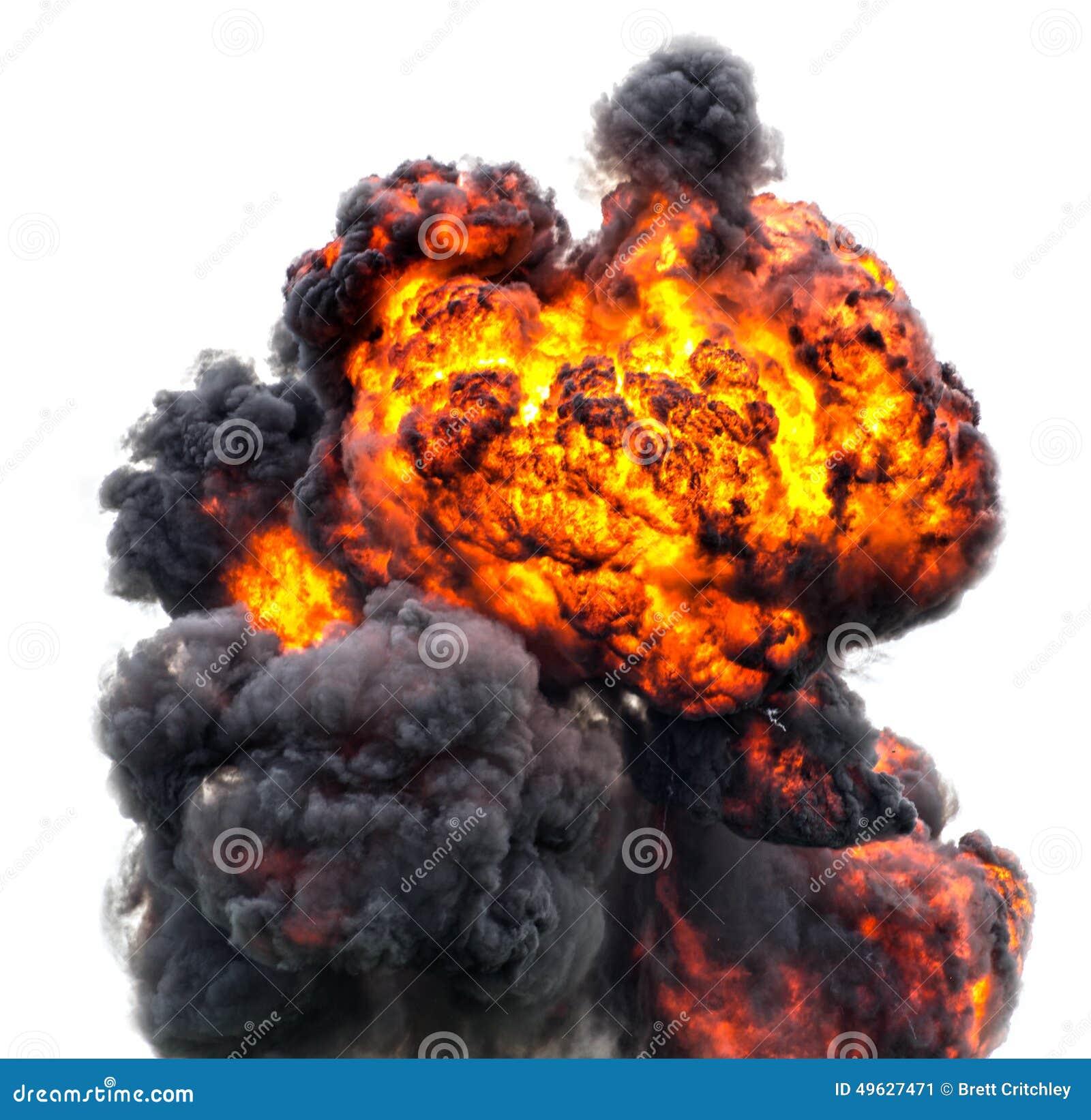 Fireball mushroom cloud inferno