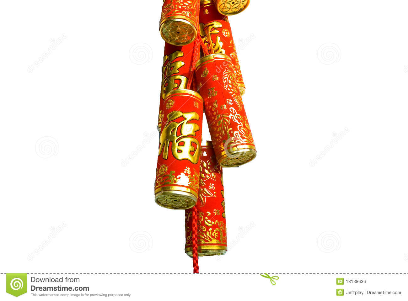 Firecracker Of The Chinese New Year Royalty Free Stock ...