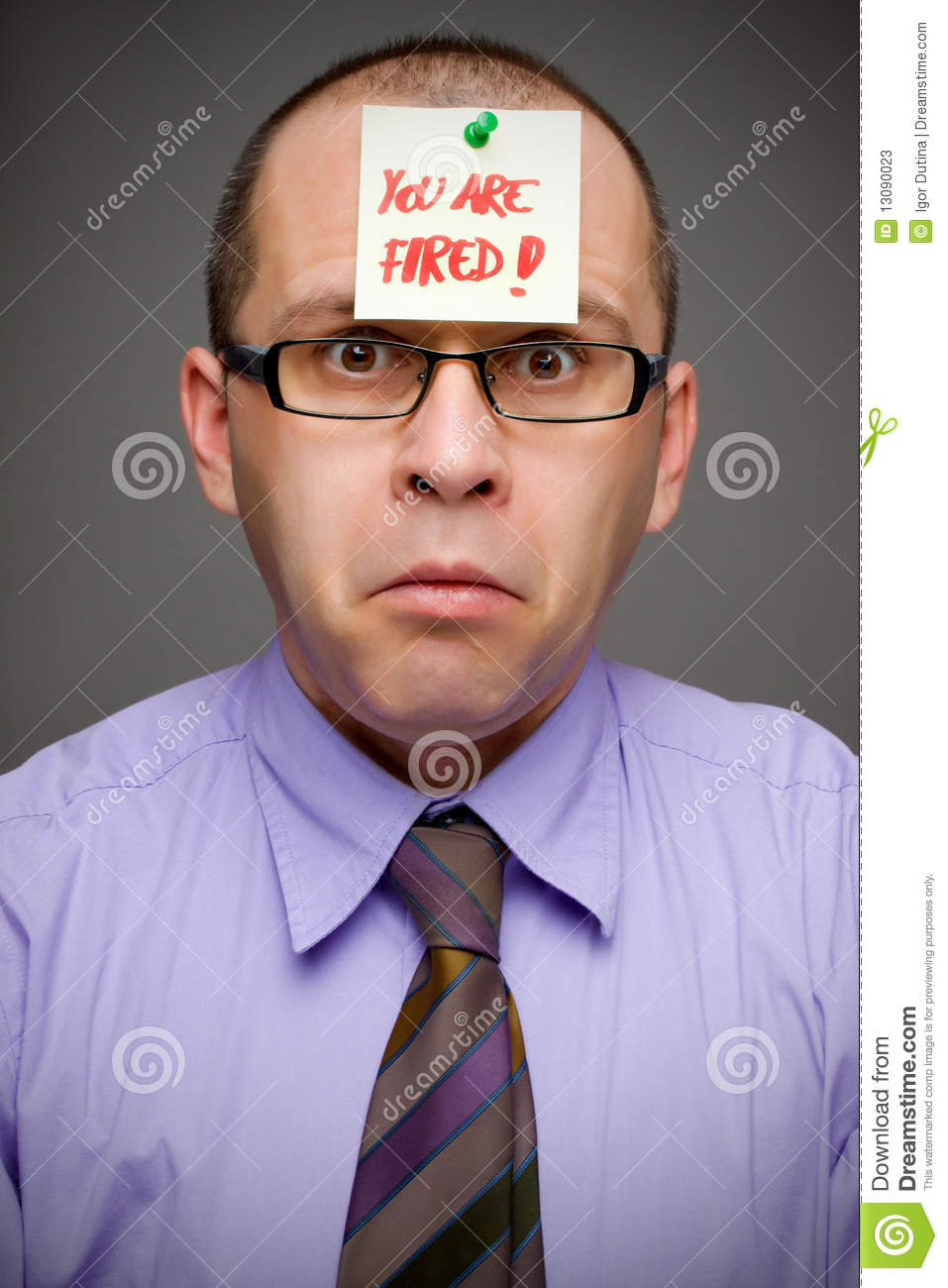Fired From Job Stock Photos - Image: 13090023