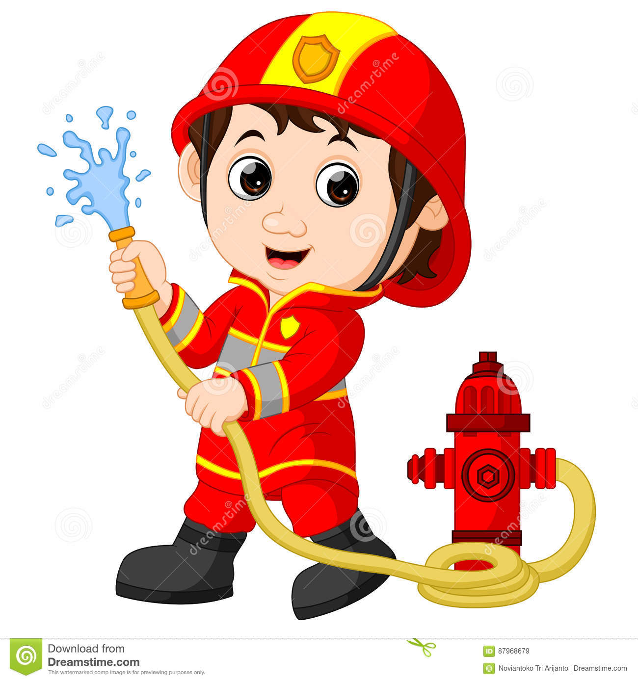 Firefighter Cartoons, Illustrations & Vector Stock Images