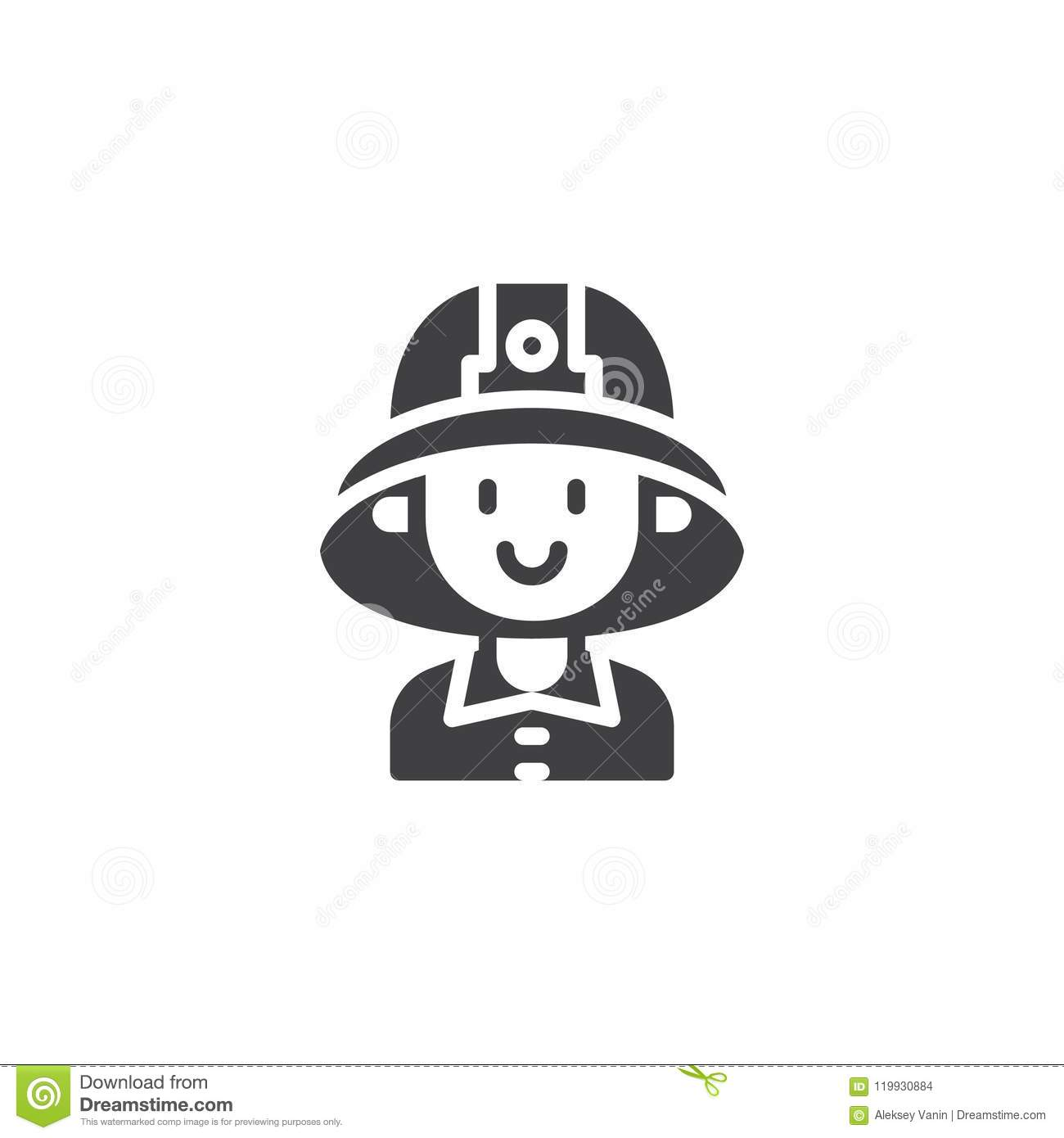 Firefighter Character Vector Icon Stock Vector - Illustration of ... e1a4bb4de12f