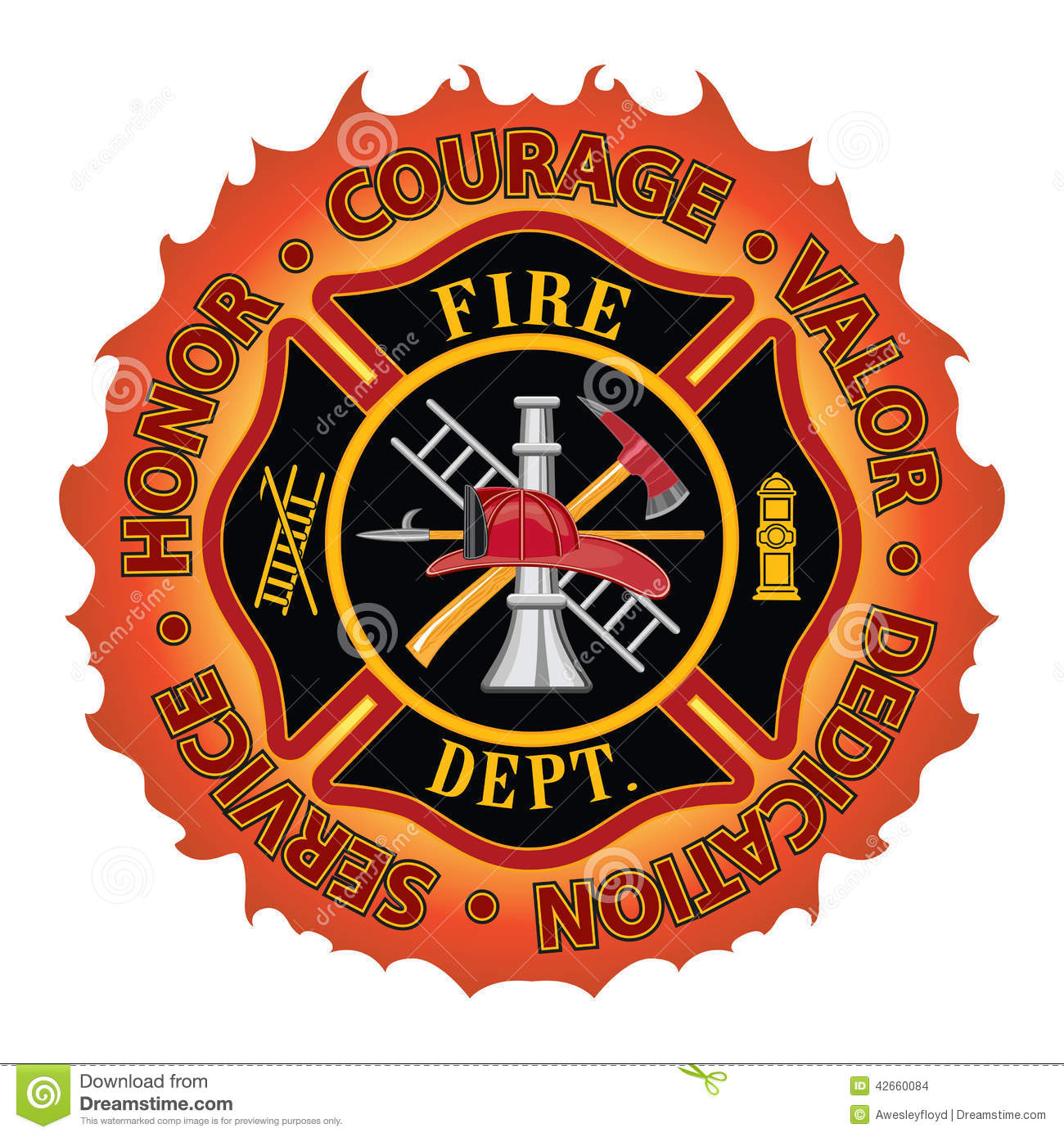 Firefighter honor courage valor stock vector illustration of firefighter honor courage valor biocorpaavc