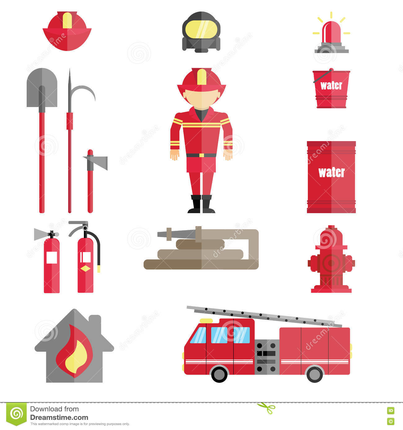 firefighter infographic set stock vector illustration of rh dreamstime com Visio Person Clip Art Visio Computer Clip Art