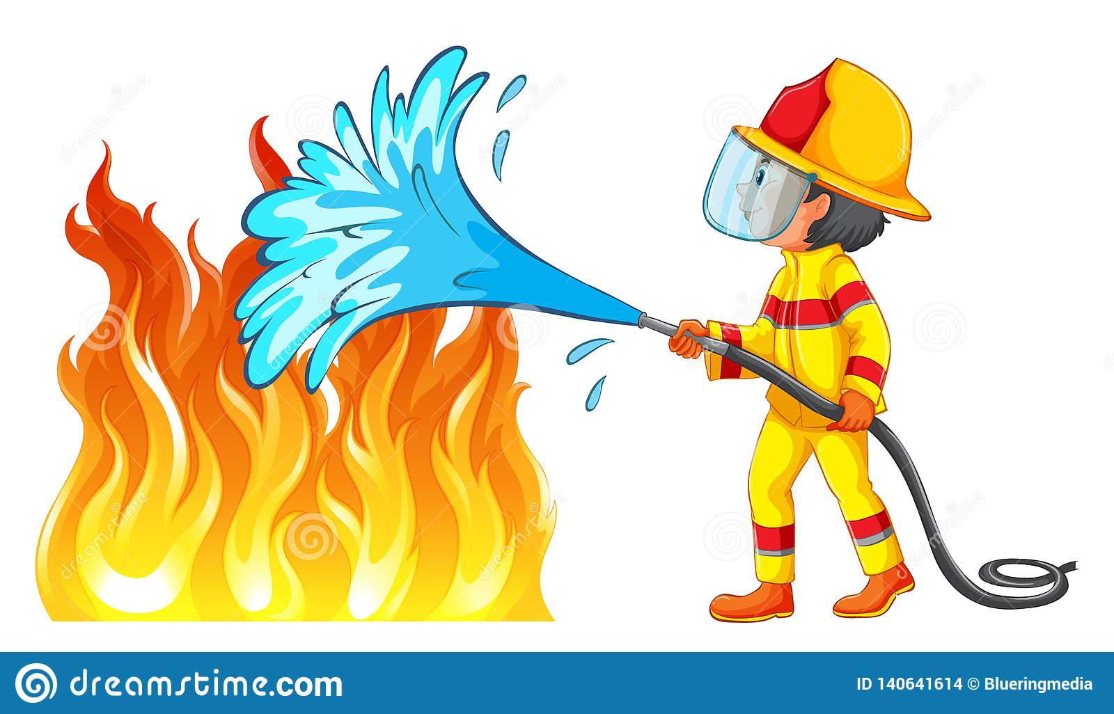 Putting out fire stock illustrations 60 putting out fire - How to put out a fireplace ...