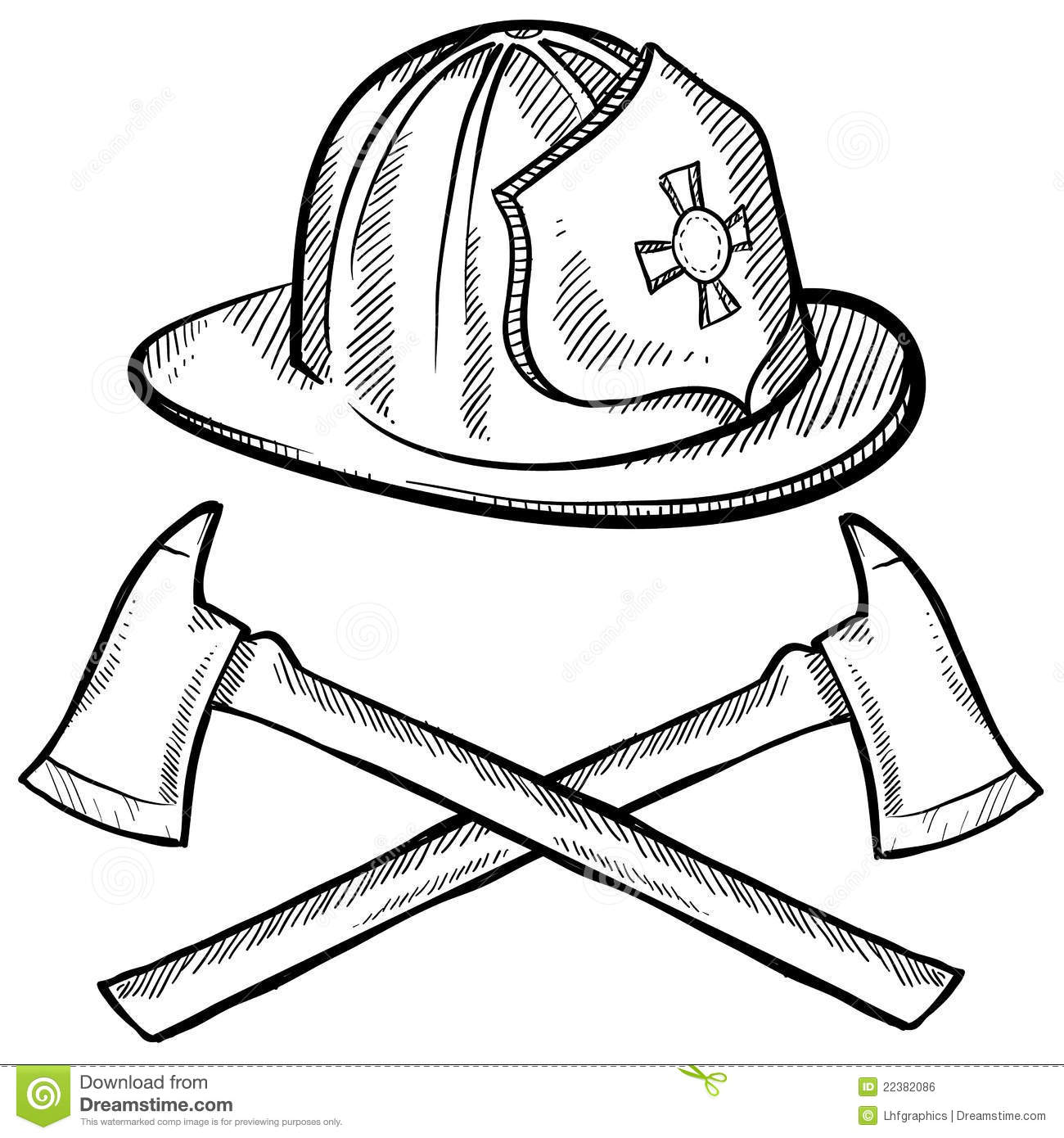 Firefighter S Objects Sketch Stock Vector Image 22382086