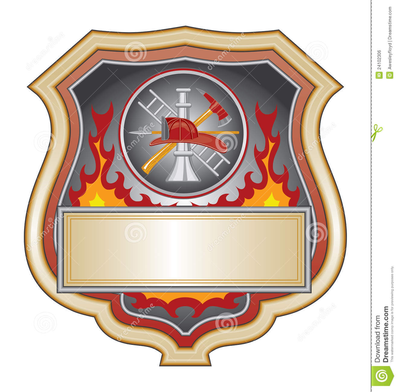 Firefighter Shield Royalty Free Stock Image - Image: 24102306