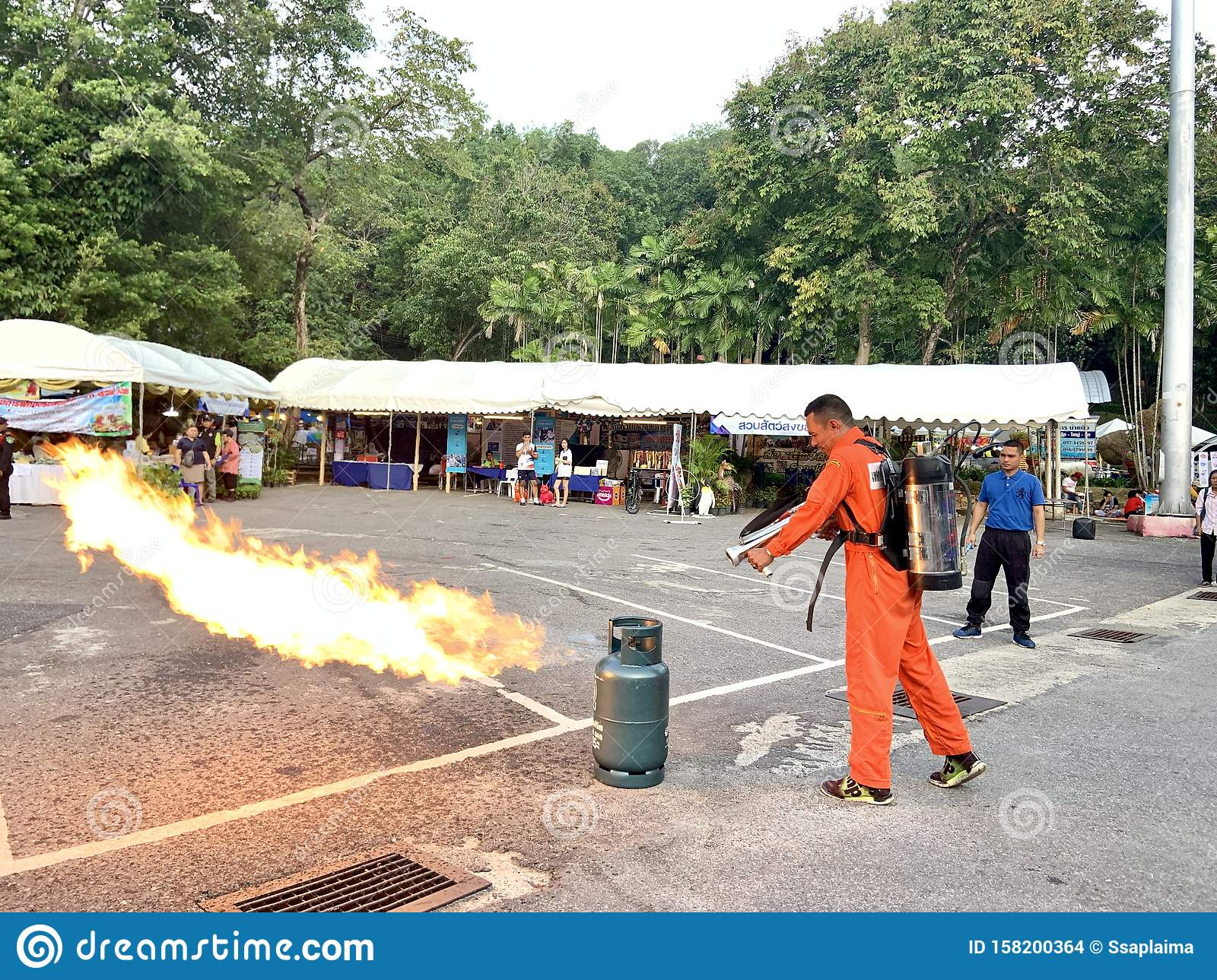 Demonstration Of Fire Fighting And Rescue Editorial Stock ...  |Fire Figher Demonstration