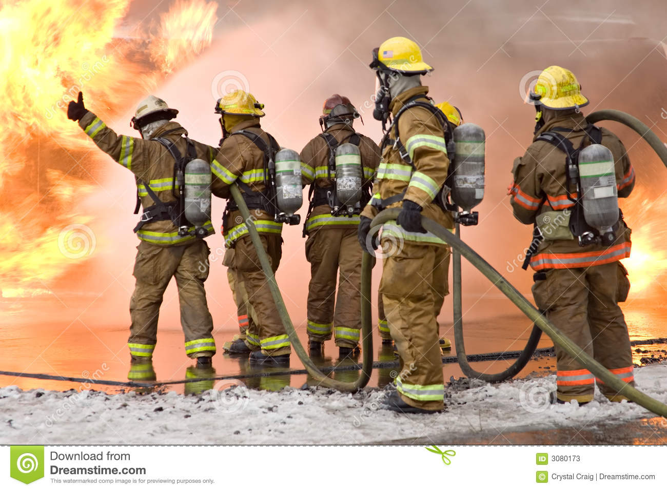 Firefighter Thumbs Up stock image. Image of thumbs, water ...