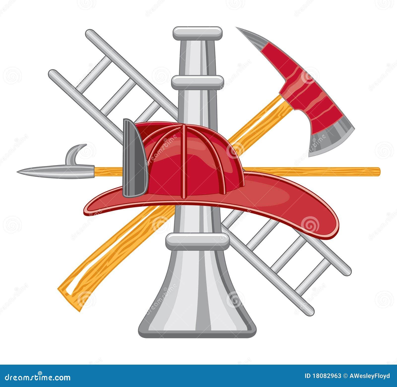 Firefighter Tools Logo Stock Photos