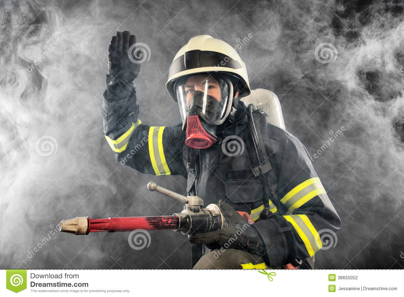 firefighter at work stock photo image of rescue risk