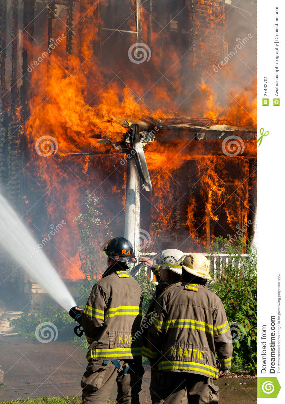 Firefighters In Action Editorial Photo Image 27432701