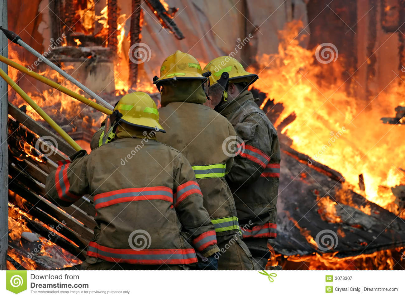 Firefighters Inside the Fire