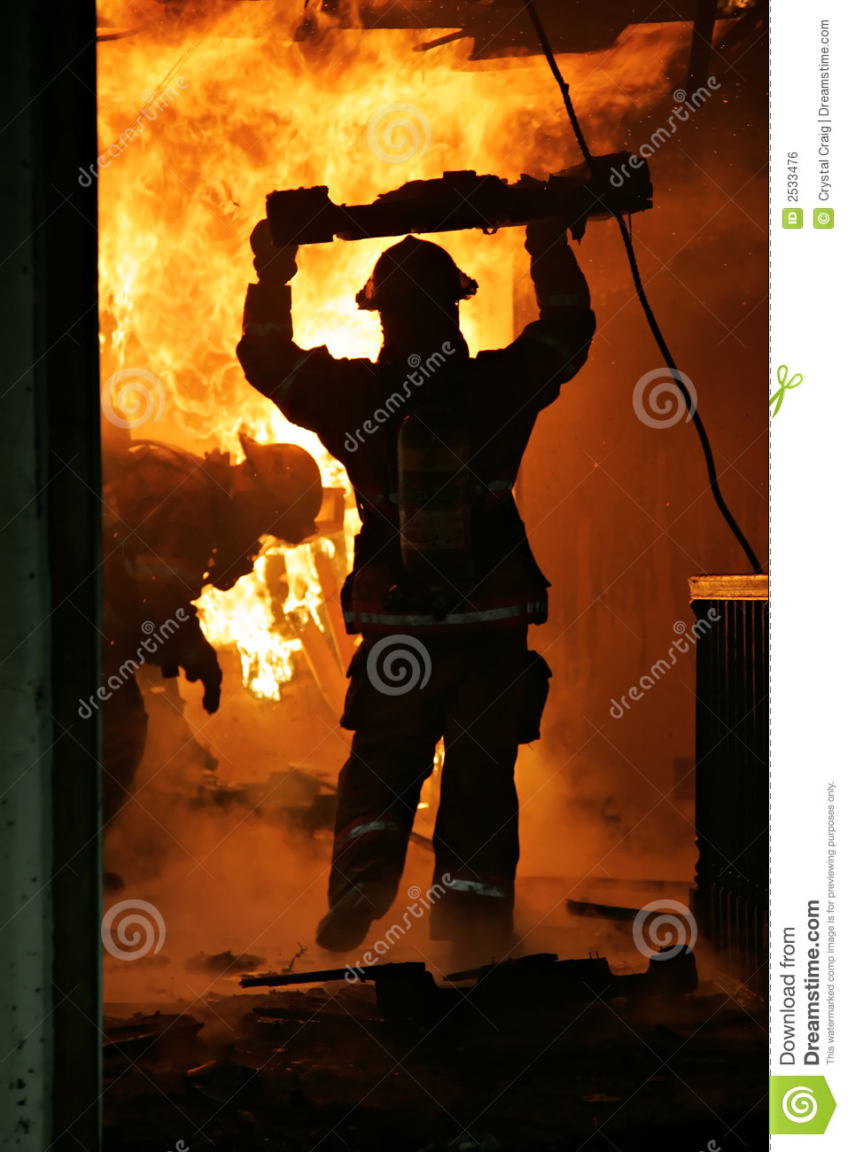 Firefighters Inside House Royalty Free Stock Image - Image: 2533476