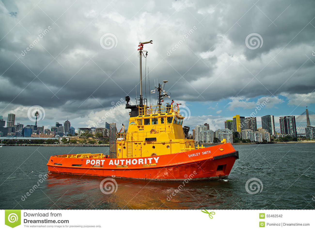Firefighting tug boat editorial photography  Image of safety