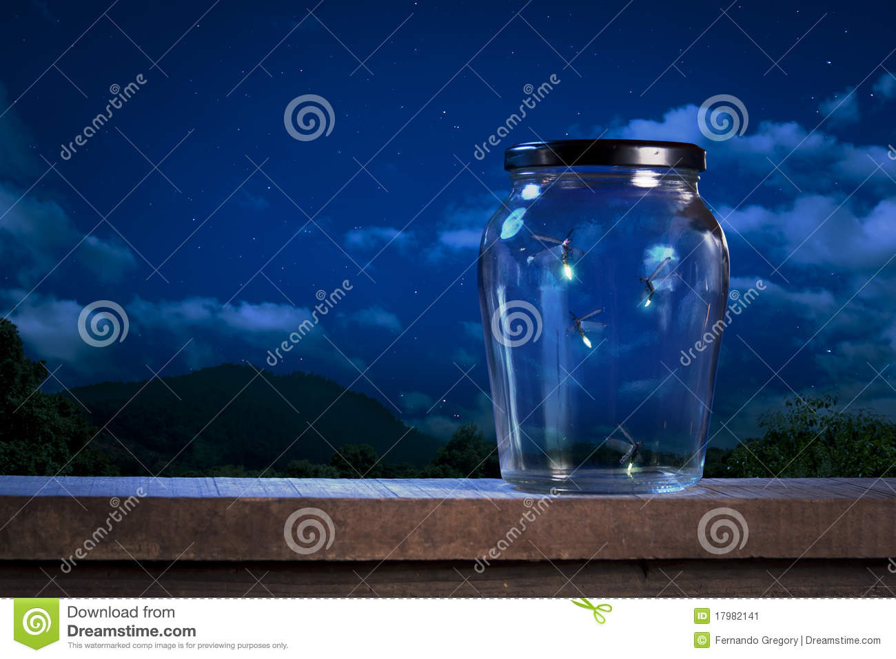 Fireflies In A Jar At Night Stock Image - Image of wallpaper ... for Firefly Insect In Jar  111ane