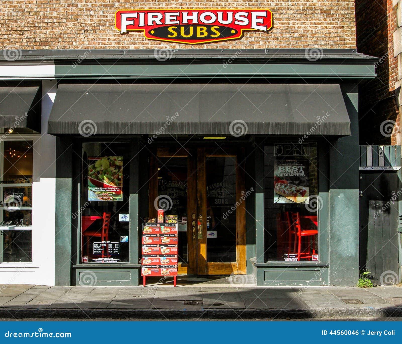 King St Charleston Sc: Firehouse Subs, King Street, Charleston, SC. Editorial