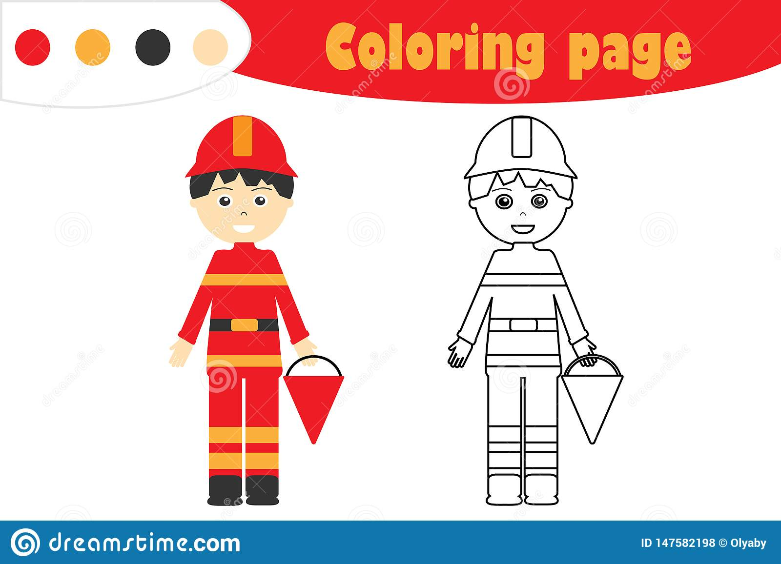 Girl Firefighter Coloring Page Free Printable Pages Within Fireman ... | 1156x1600