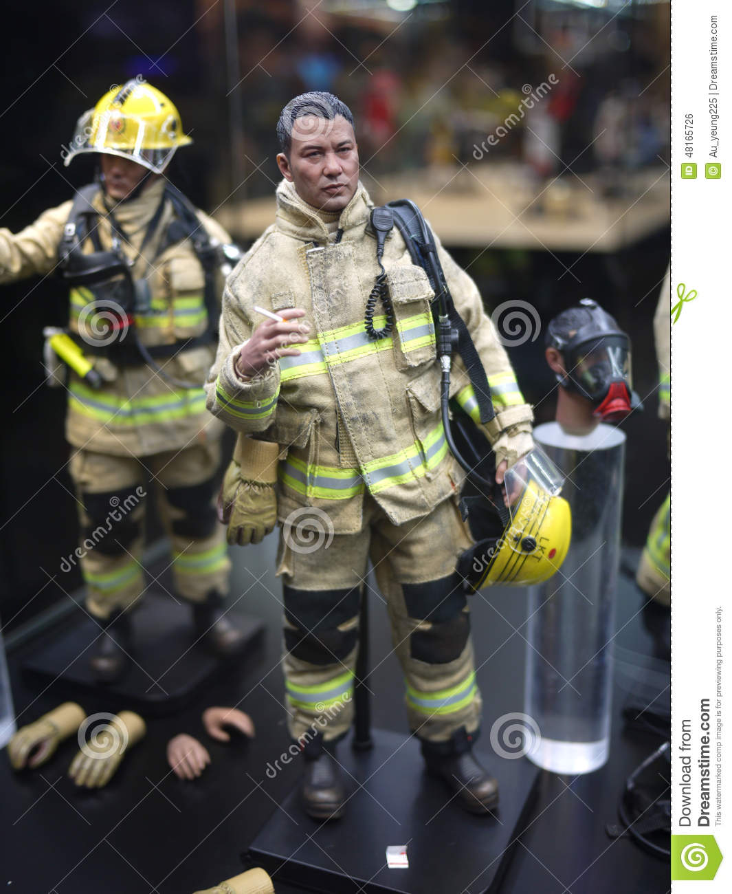 Fireman Figure In As The Light Goes Out Editorial Photo - Image ...