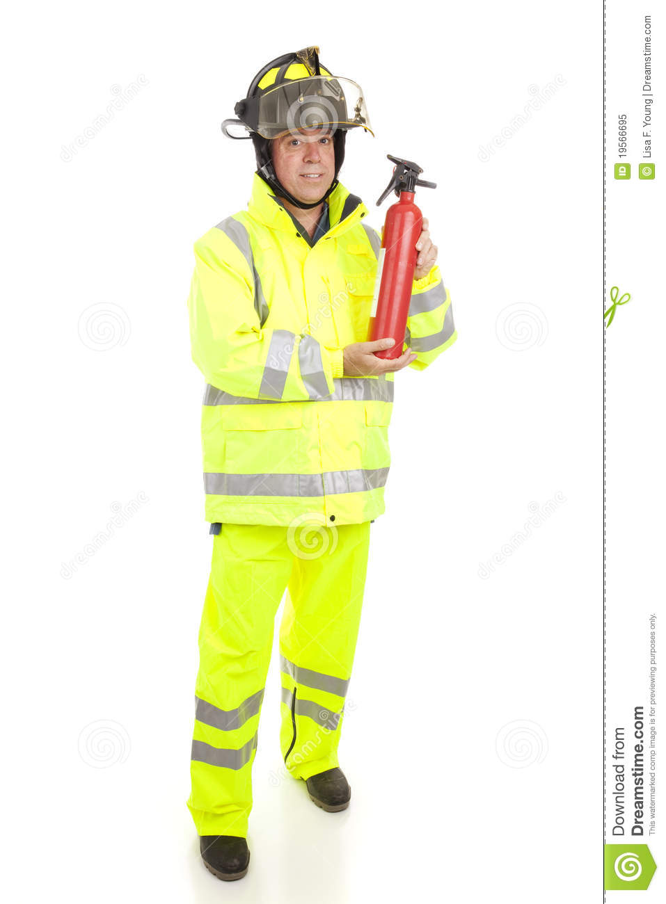 Blue Fire Extinguisher >> Fireman With Fire Extinguisher Stock Image - Image of emergency, clothing: 19566695