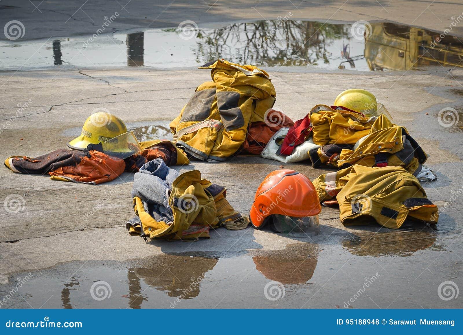 Fireman. Firefighters training.