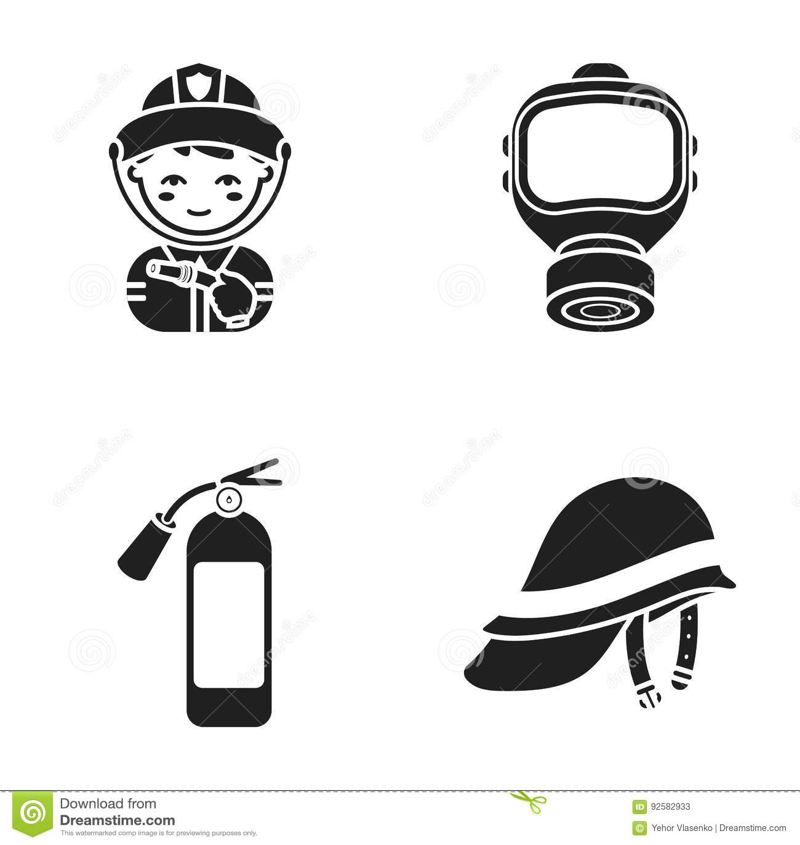 tool icons on white background stock photos