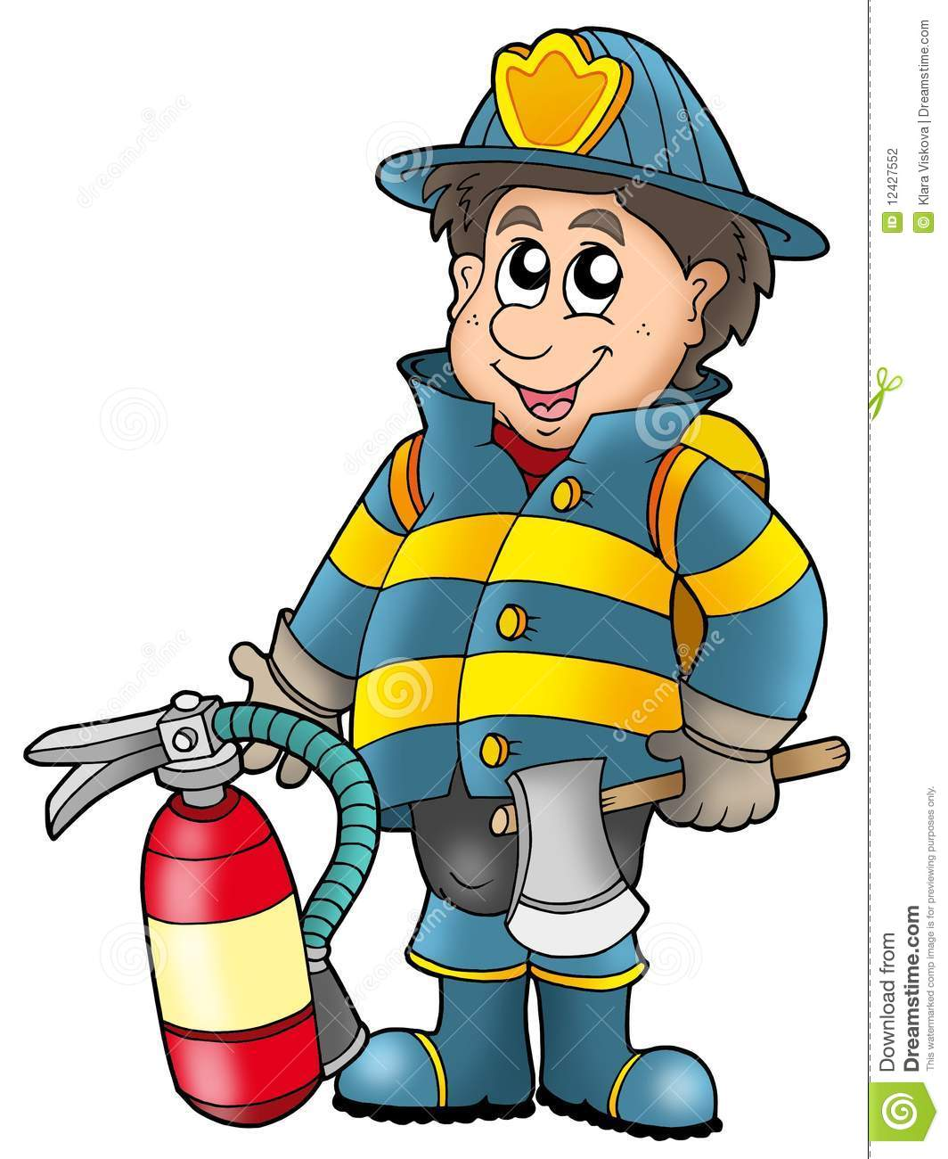Fireman Holding Fire Extinguisher Stock Photography - Image: 12427552