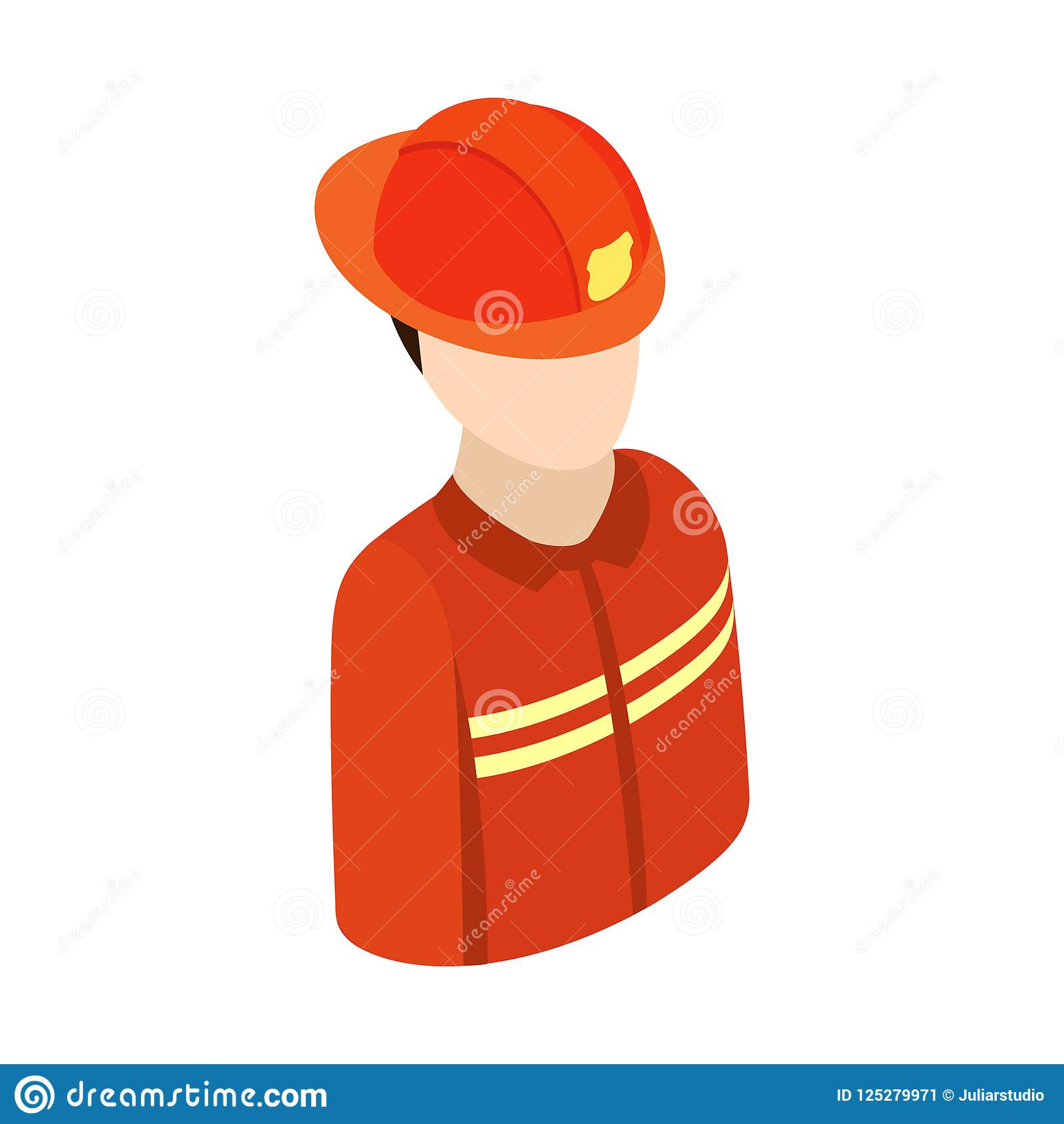 Fireman Isometric 3d Character Icon Stock Illustration ... dc988515c1e1