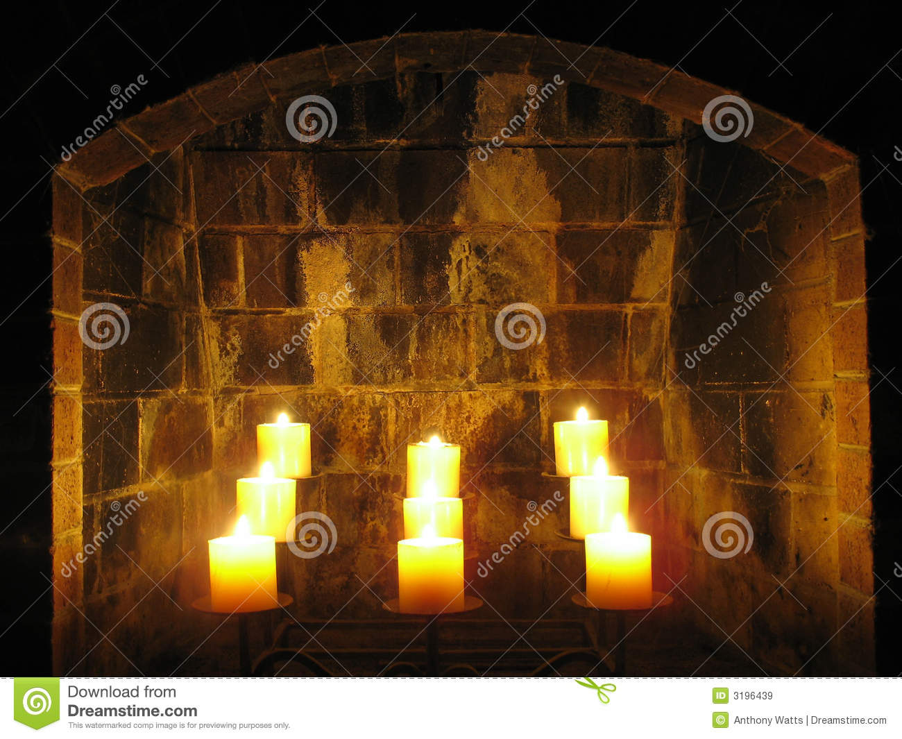 fireplace candles royalty free stock images image 3196439