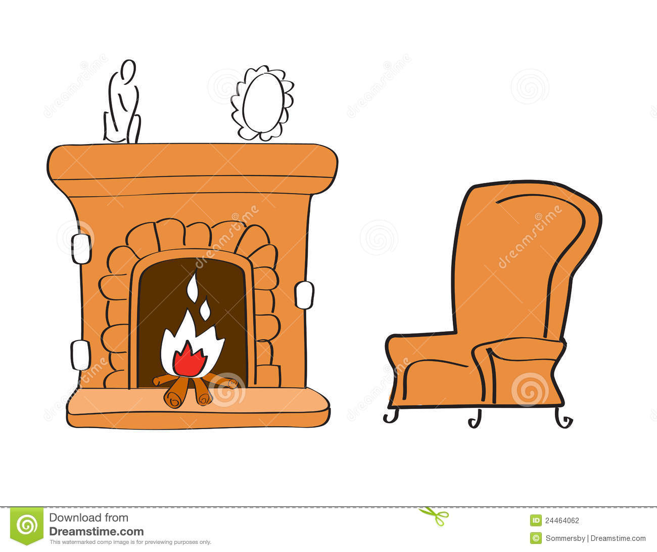 clipart fireplace - photo #33